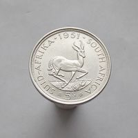 ЮАР 5 шиллингов 1951 серебро СОСТОЯНИЕ