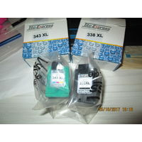 Картриджи к струйному принтеру, черный 338XL и цветной 343XL. Для HP 460C,5740,5745,6520,6540,6620,6840,9800,6200,6210,7210,7310,7410.