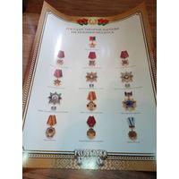 Плакат с медалями