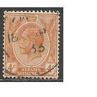 Стрейтс и Сетлментс. Король Георг V. 1922г. Mi#178.