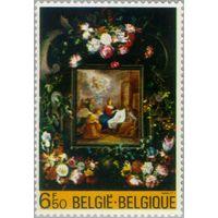 Живопись Изобразительное искусство   Растения (флора)   Рождество   Цветы Бельгия 1980 ** (РН)
