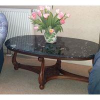 Журнальный столик с изумрудно-малахитовым мрамором, Германия