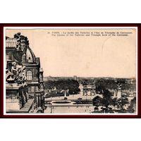 PARIS ~ Сад Тюильри и Триумфальная арка на площади Каррузель ~ 1931 год ~