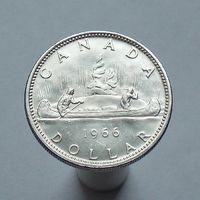 Канада 1$ 1966 СЕРЕБРО