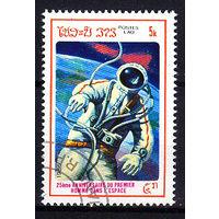 1986 Лаос. 25-летие первого человека в космосе