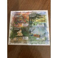 Соломоновы острова 2013. Клод Мане. Живопись. Малый лист
