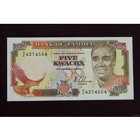 Замбия 5 квача 1989 UNC