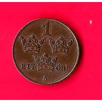 09-04 Швеция 1 эре 1915 г. Единственное предложение монеты данного года на АУ