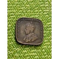 Стрейт Сетлмент 1 цент 1926 г ( последний год , самый малый тираж )