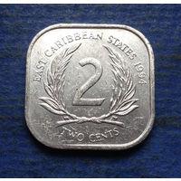 Карибы (Карибские острова) 2 цента 1994