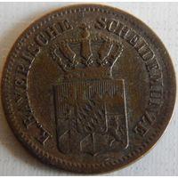 8. Бавария 1 крейцер 1865, билон