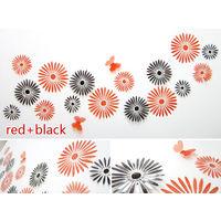 Декор - цветы 3D из ПВХ прозрачные, посадка на двухсторонний скотч (в комплекте), комплект 16 штук. (21)
