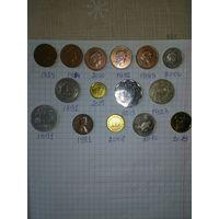 Монеты разных стран одним лотом
