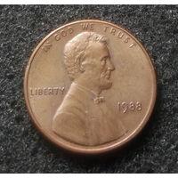 США, 1 цент 1988