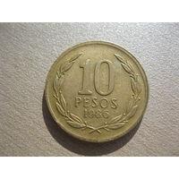 10 песо 1986 г. Чили.