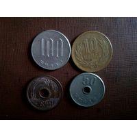 Монеты Японии( сборный лот)