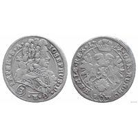 YS: Богемия, 3 гроша 1711 BW, Иосиф I - Император Священной Римской империи, король Богемии и Венгрии 1705-1711, серебро, Dietiker# 944, КМ# 630