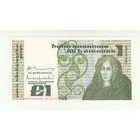 Ирландия 1 фунт 1977 года. Состояние XF+! Редкая!