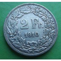 Швейцария. 2 франка 1910. Много новых лотов.