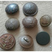 Пуговицы старинные 8 шт + 1 Сборный лот