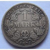 Германия 1 марка 1876 отметка монетного двора G - Карлсруэ