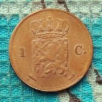Нидерланды (Голландия) 1 цент 1824 года
