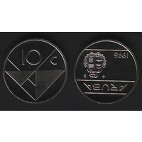Аруба _km2 10 центов 1995 год (ba) (b06)