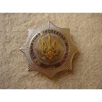 "Нагрудный знак-бляха ""Дільничний інспектор міліціi"", Украина."