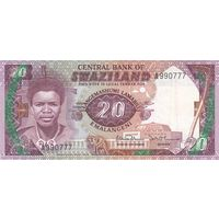 Свазиленд 20 эмалангени 1986 года