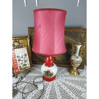 C рубля Аукцион Августа! Светильник с Абажуром красивая настольная лампа охота ночной торшер фарфор