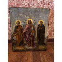 Икона Святой Михаил со святыми в киоте