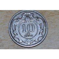 Австро-Венгрия 10 геллеров 1893