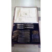 Набор мельхиоровых столовых приборов,24 шт