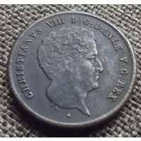 Дания. 1 риксбанскиллинг 1842