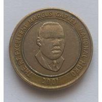 Ямайка, 20 долларов, 2001 года