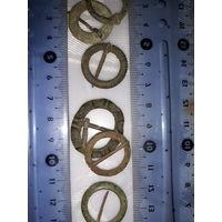 6 Старинных бронзовые пряжки фибулы - Славяне