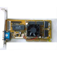 Видеокарта NVIDIA TNT2-Vanta - AGP-4x (AGP-2x/4x), 32Мбайт. Подходит для ретро-плат. =Рабочая. Цена без кулера.=