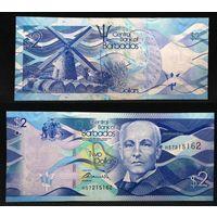 Банкноты мира. Барбадос, 2 доллара