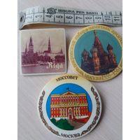 Значки большие города из СССР