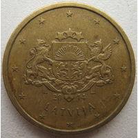 Латвия 10 евроцентов 2014 г.