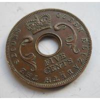 Британская Восточная Африка 5 центов 1957  .10 Б-333