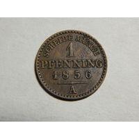 Пруссия 1 пфеннинг 1856г