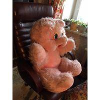 Мягкая игрушка медведь большой розовый