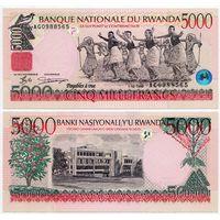 Руанда. 5000 франков (образца 1998 года, P28, UNC)