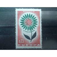 Монако 1964 Европа Михель-1,0 евро