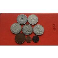 Полтинники 1921-1926гг 5 шт+медь