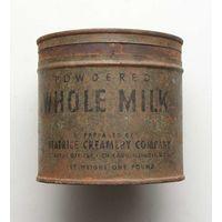 Консервная банка POWDERED WHOLE MILK ( Сухое цельное молоко ) поставки США в СССР по Ленд-лизу