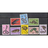 Руанда Змеи 1967 год чистая полная серия из 8-ми марок