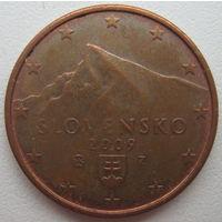 Словакия 5 евроцента 2009 г.