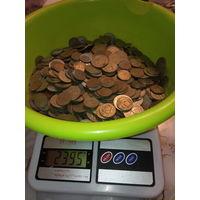 2.395 кг . очень красивых монеток СССР.С 1 рубля.